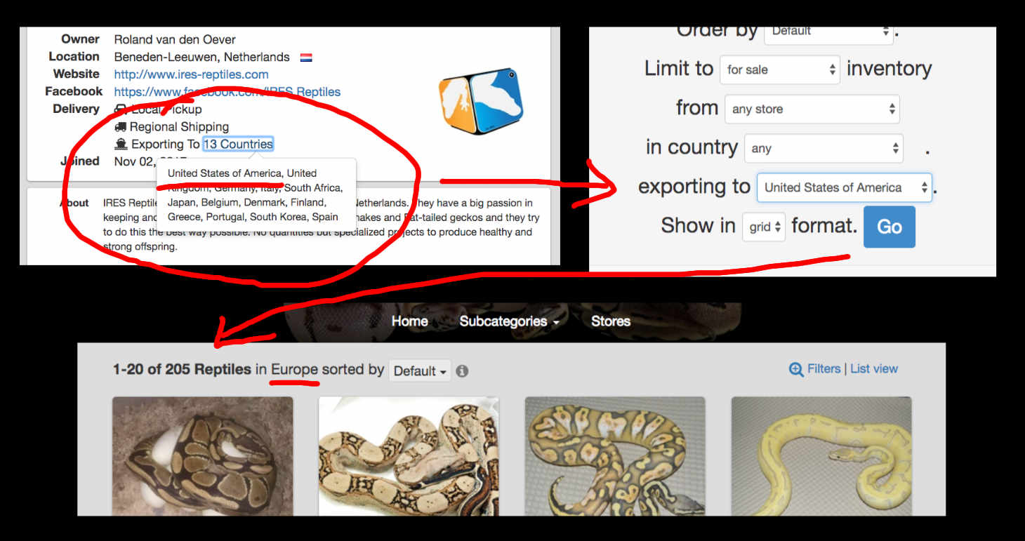 Search Exporting Sellers