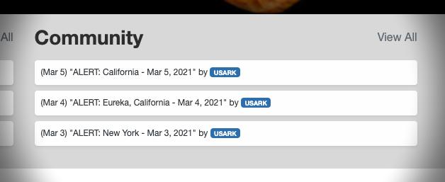 USARK Alert Updates